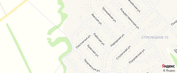 Охотничья улица на карте Стрелецкого села с номерами домов