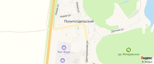 Центральный переулок на карте Политотдельского поселка с номерами домов