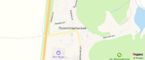 Парковая улица на карте Политотдельского поселка с номерами домов