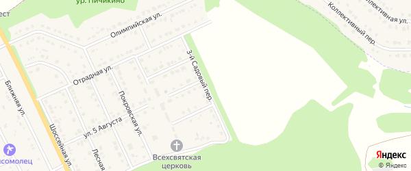 Садовый 3-й переулок на карте Комсомольского поселка с номерами домов