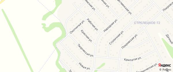 Красная улица на карте Стрелецкого села с номерами домов