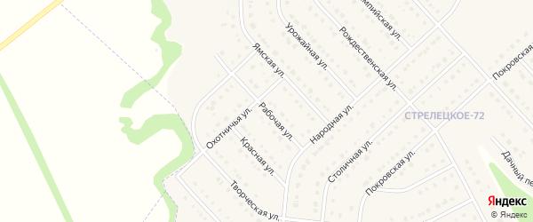 Рабочая улица на карте Стрелецкого села с номерами домов