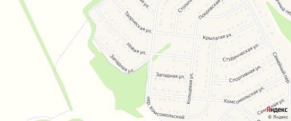 Западная улица на карте Стрелецкого села с номерами домов