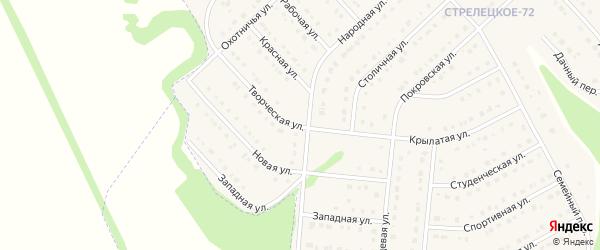 Творческая улица на карте Стрелецкого села с номерами домов