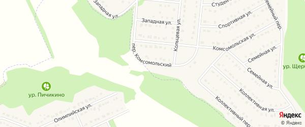 Комсомольский переулок на карте Стрелецкого села с номерами домов