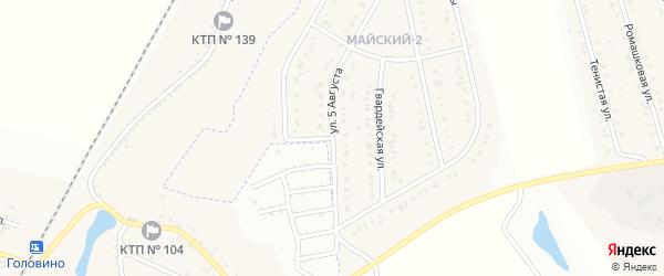 Улица 60 лет Победы на карте Майского поселка с номерами домов