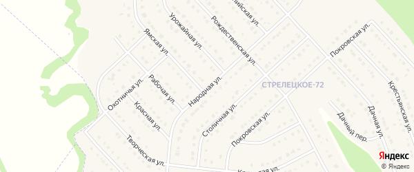 Народная улица на карте Стрелецкого села с номерами домов