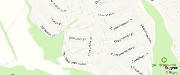 Кольцевая улица на карте Комсомольского поселка с номерами домов