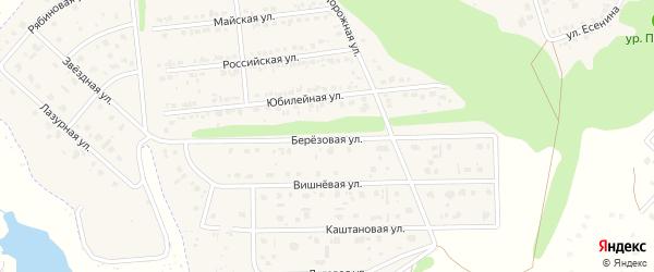Березовая улица на карте Комсомольского поселка с номерами домов