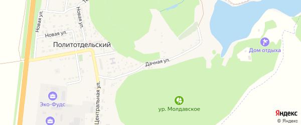 Дачная улица на карте Политотдельского поселка с номерами домов