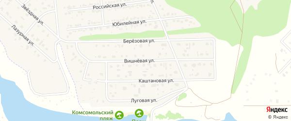 Вишневая улица на карте Комсомольского поселка с номерами домов