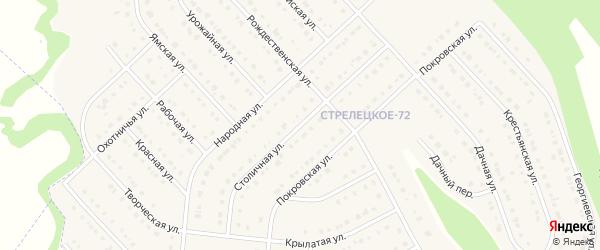 Столичная улица на карте Стрелецкого села с номерами домов