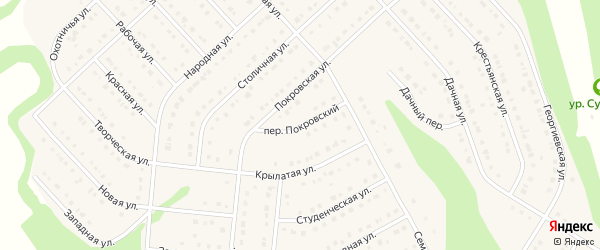 Покровский переулок на карте Стрелецкого села с номерами домов