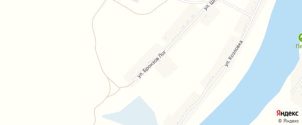 Улица Бронзов Лог на карте села Кочетовка с номерами домов