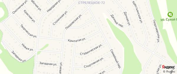 Крылатая улица на карте Стрелецкого села с номерами домов