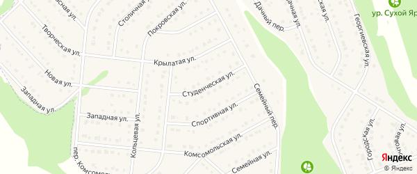 Студенческая улица на карте Стрелецкого села с номерами домов