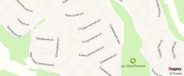 Спортивная улица на карте Стрелецкого села с номерами домов