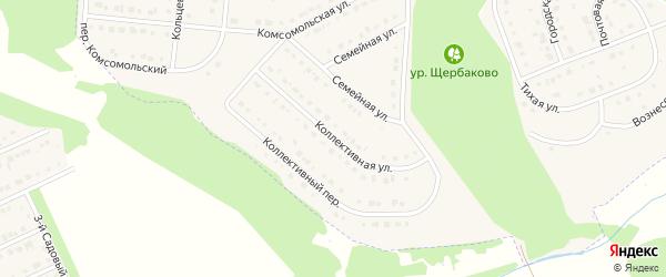 Коллективная улица на карте Стрелецкого села с номерами домов
