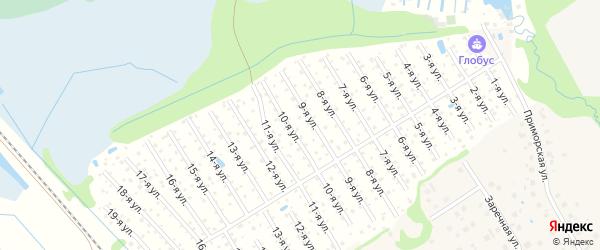 Средняя улица на карте садового некоммерческого товарищества Машиностроителя с номерами домов