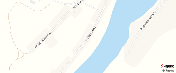 Улица Козловка на карте села Кочетовка с номерами домов