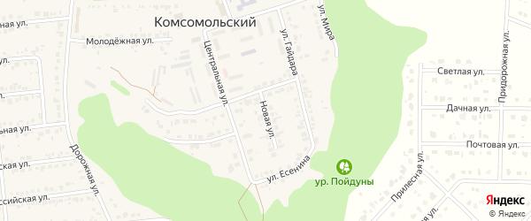 Новая улица на карте Комсомольского поселка с номерами домов