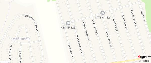 Ромашковая улица на карте Майского поселка с номерами домов