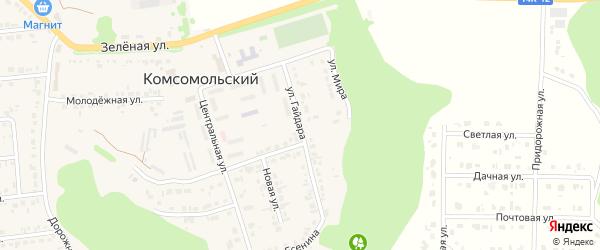 Улица Гайдара на карте Комсомольского поселка с номерами домов