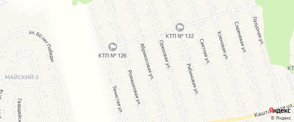 Абрикосовая улица на карте Майского поселка с номерами домов