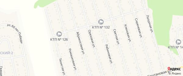 Ореховая улица на карте Майского поселка с номерами домов