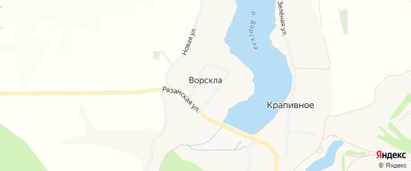 Карта села Ворсклы в Белгородской области с улицами и номерами домов