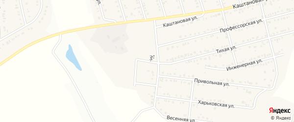 Крайний переулок на карте Майского поселка с номерами домов