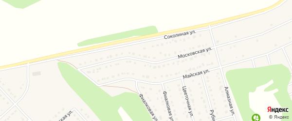 Московская улица на карте Стрелецкого села с номерами домов