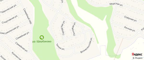Почтовая улица на карте Стрелецкого села с номерами домов