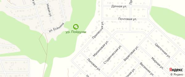 Прилесная улица на карте Комсомольского поселка с номерами домов