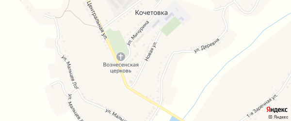 Новая улица на карте села Кочетовка с номерами домов