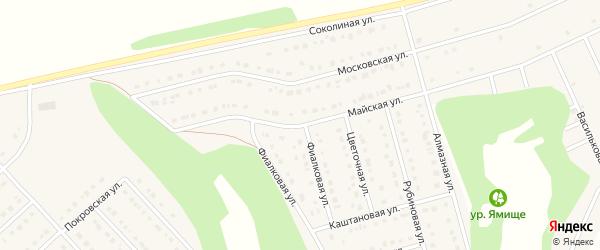 Майская улица на карте Стрелецкого села с номерами домов