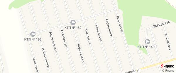Светлая улица на карте Майского поселка с номерами домов