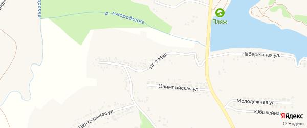 1 Мая улица на карте села Быковки с номерами домов