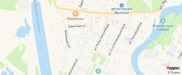 Улица Ильи Орлова на карте Вытегры с номерами домов