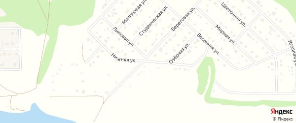 Нижняя улица на карте Комсомольского поселка с номерами домов