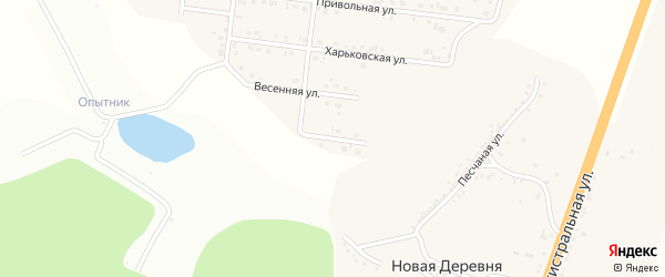 Безымянная улица на карте Майского поселка с номерами домов