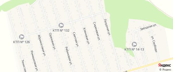 Кленовая улица на карте Майского поселка с номерами домов