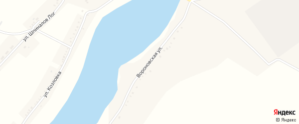 Улица Вороновка на карте села Кочетовка с номерами домов