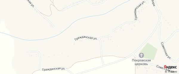 Гражданская улица на карте села Покровки с номерами домов