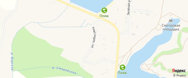 Улица Чибисовка на карте села Быковки с номерами домов