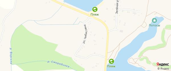 Улица Чибисовка на карте Крапивного села с номерами домов