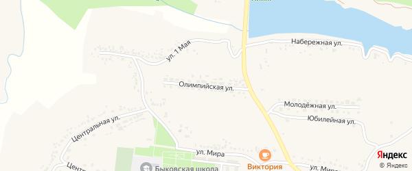 Олимпийская улица на карте села Быковки с номерами домов