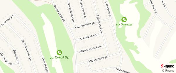 Кленовая улица на карте Стрелецкого села с номерами домов
