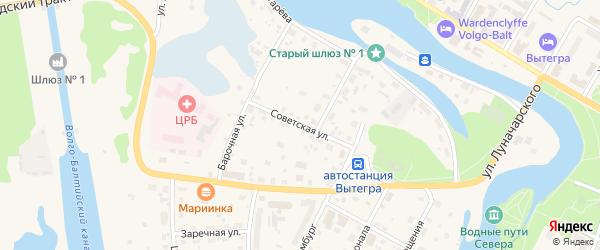 Советская улица на карте Вытегры с номерами домов