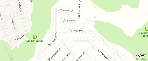 Почтовая улица на карте Комсомольского поселка с номерами домов